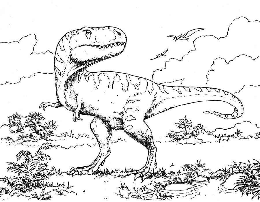 Раскраска динозавры для детей 5 лет