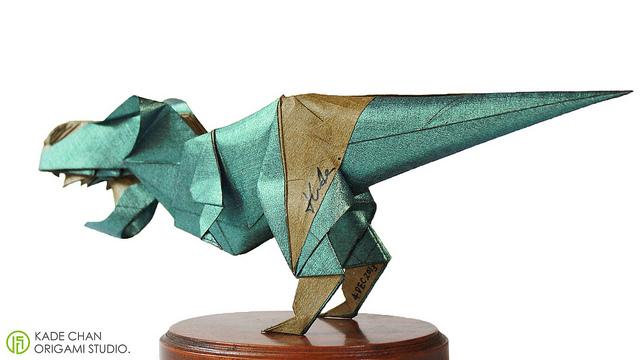Оригами динозавр, динозавры оригами