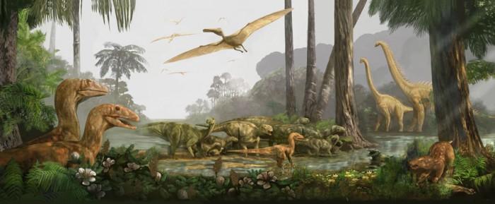 В каком периоде жили динозавры