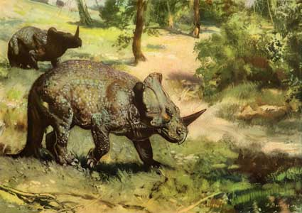 Динозавр с рогом на голове, моноклон