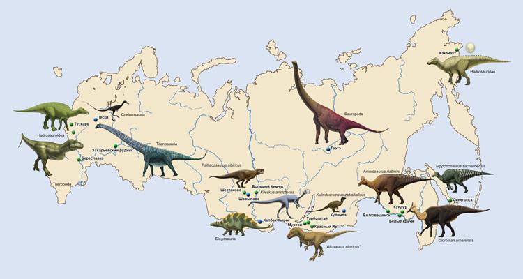 Динозавры на территории россии, Российские динозавры