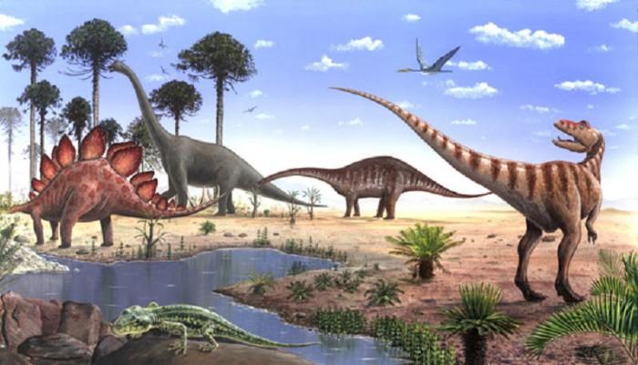Динозавры юрского периода видео