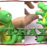 Как лепить динозавров из пластилина видео
