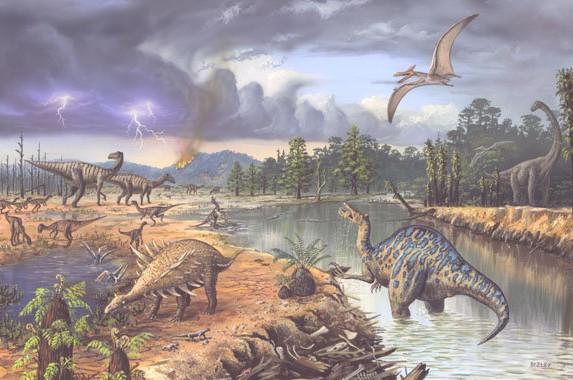 Мезозойская эра, картинки мезозойская эра, мезозойская эра периоды