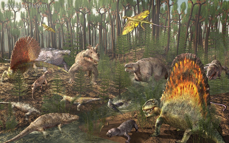 Пермский период, животные пермского периода
