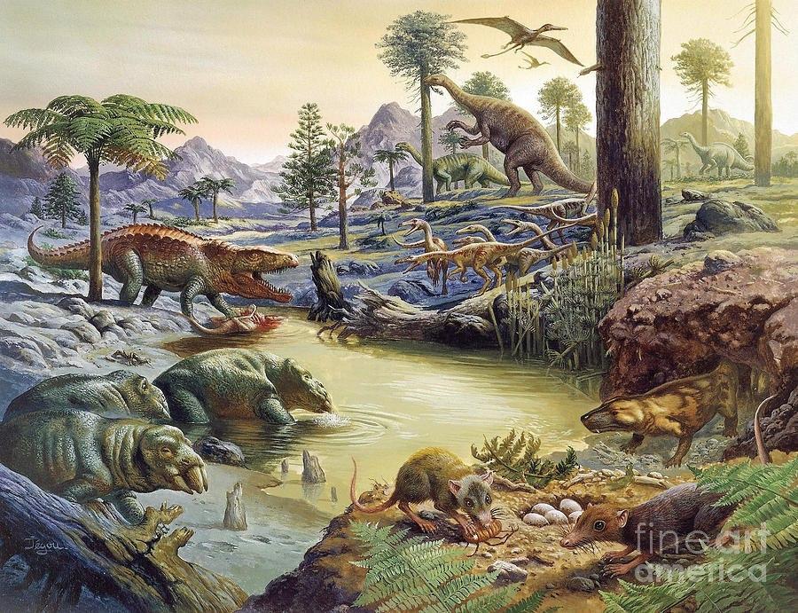 Триасовый период, мезозойская эра триасовый период