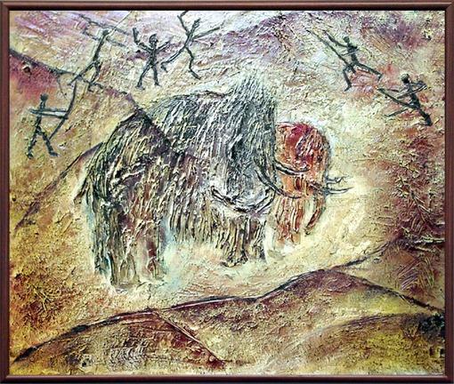 Рисунок мамонта первобытного человека