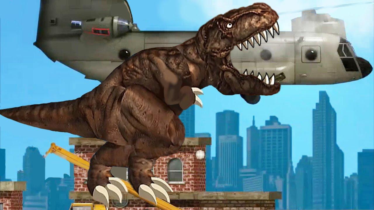 Динозавр рекс игра, динозавры едят людей игра