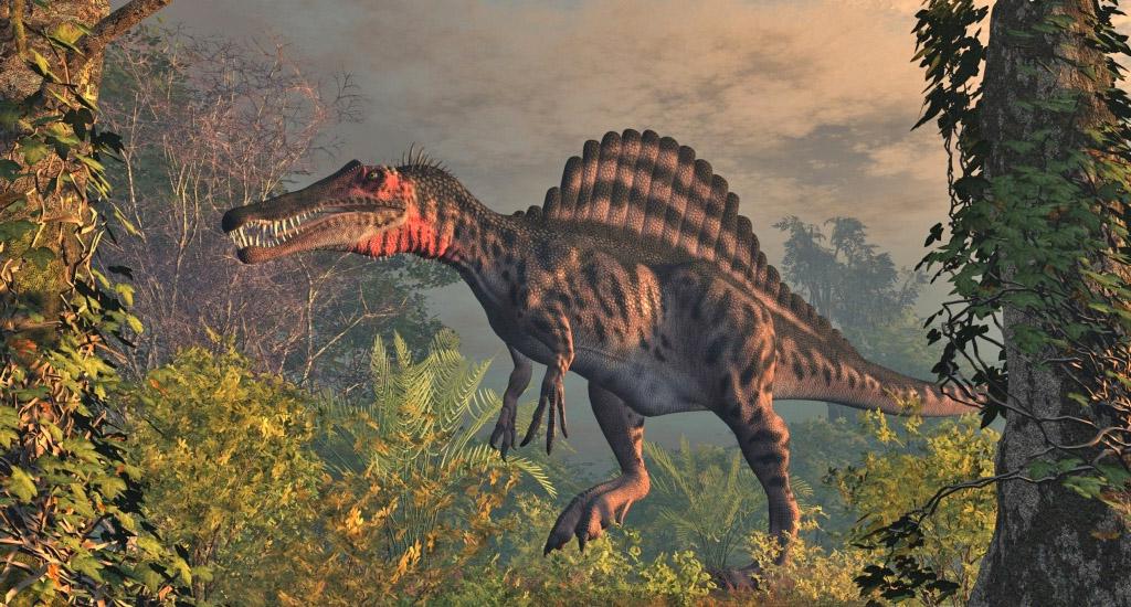 Динозавр с гребнем на спине