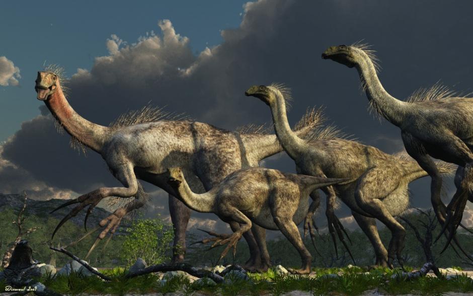 Динозавр с длинными когтями