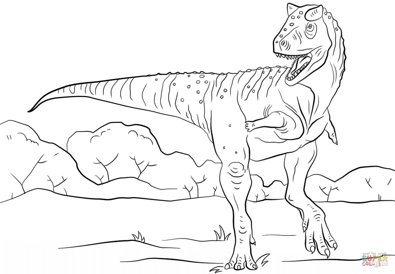 Раскраска тарбозавр