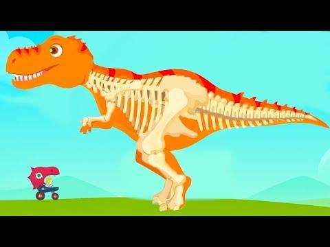Видео кости динозавров для детей