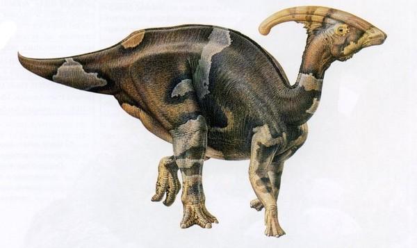 Динозавр с хохолком на голове