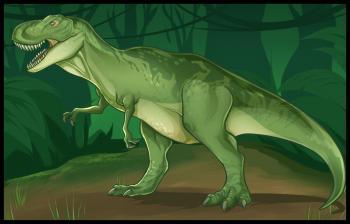 Как нарисовать тираннозавра, рисунок тираннозавра