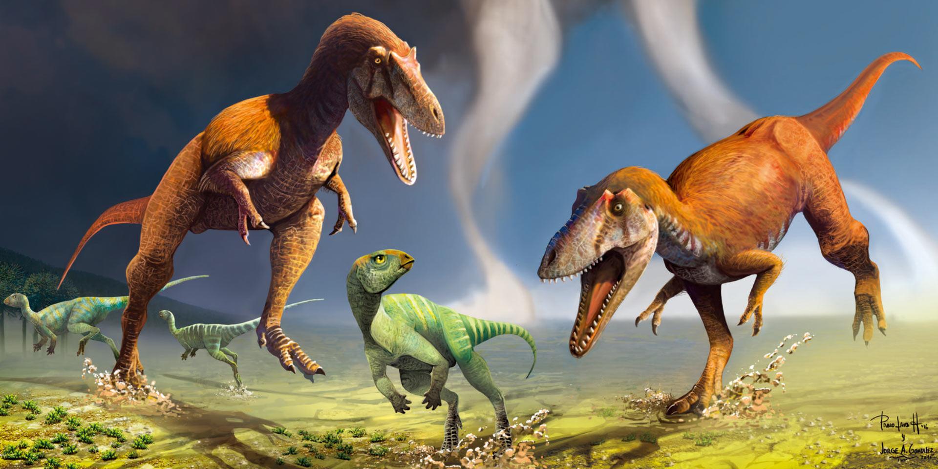 Динозавр с короткими лапками