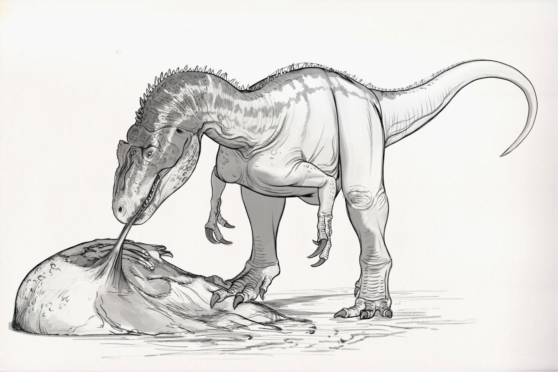 Динозавры детские рисунки карандашом